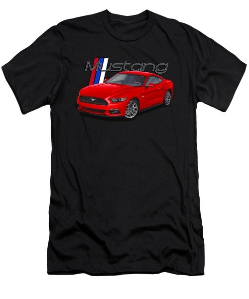 2015 Red Mustang Men's T-Shirt (Athletic Fit)