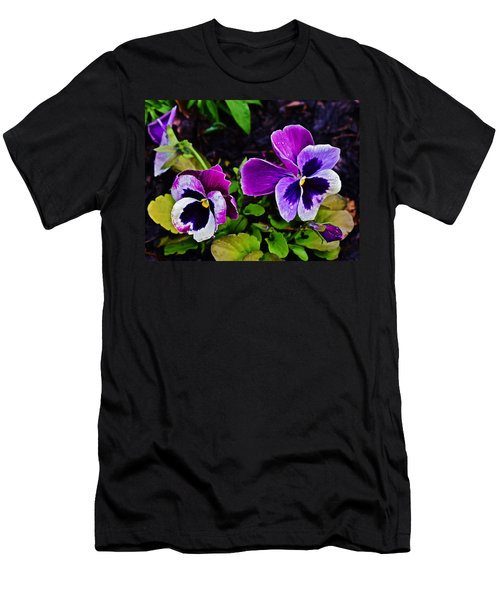 2015 Spring At Olbrich Gardens Violet Pansies Men's T-Shirt (Athletic Fit)