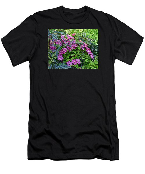 2015 Summer At The Garden Beautiful Clematis Men's T-Shirt (Athletic Fit)
