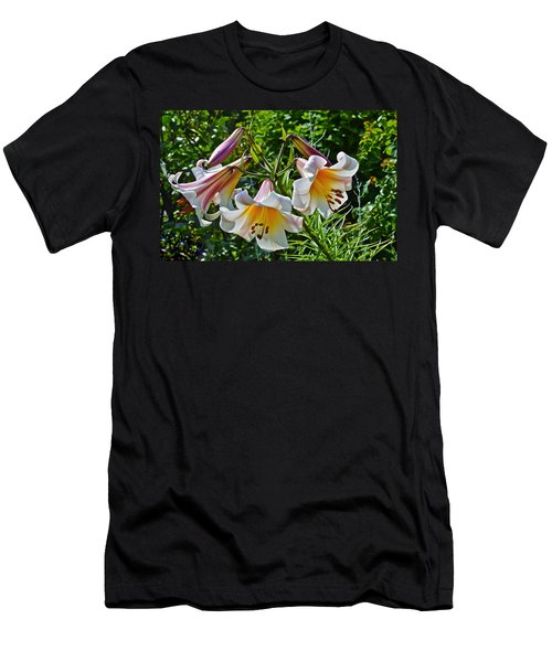2015 Summer At The Garden Lilies In The Rose Garden 1 Men's T-Shirt (Athletic Fit)