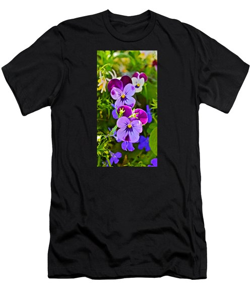 2015 Summer's Eve At The Garden Pansy Totem Men's T-Shirt (Athletic Fit)