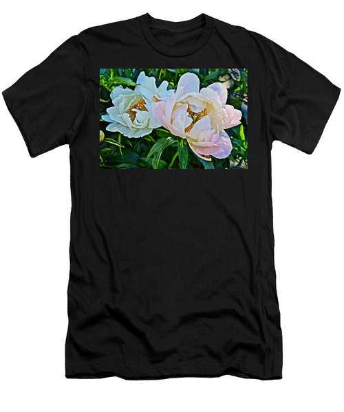 2015 Summer's Eve At The Garden White Peony Duo Men's T-Shirt (Athletic Fit)
