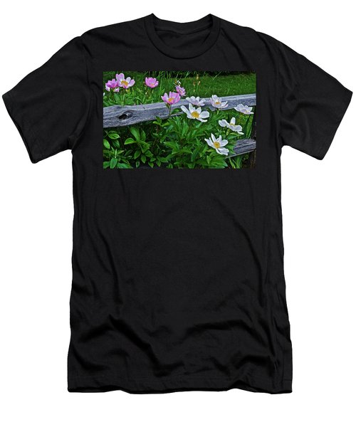 2015 Summer's Eve Neighborhood Garden Front Yard Peonies 2 Men's T-Shirt (Athletic Fit)