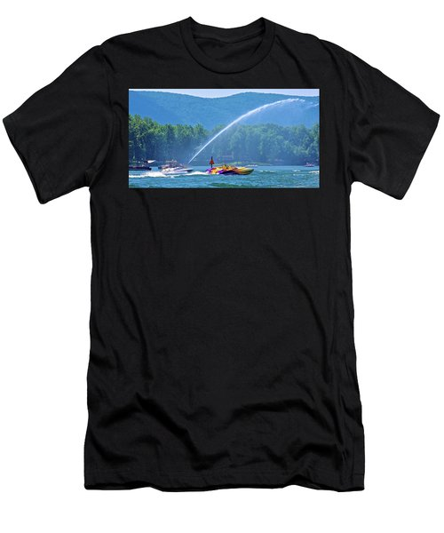 2017 Poker Run, Smith Mountain Lake, Virginia Men's T-Shirt (Athletic Fit)