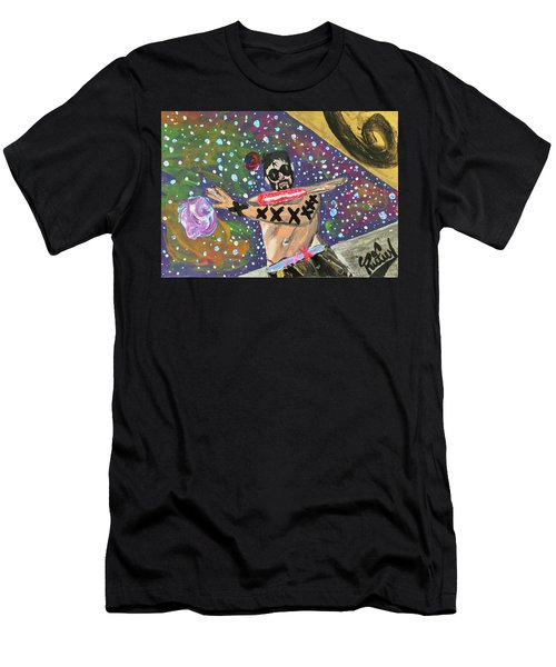 Men's T-Shirt (Athletic Fit) featuring the painting 2021 The Eyes Odyssey by Rufus J Jhonson