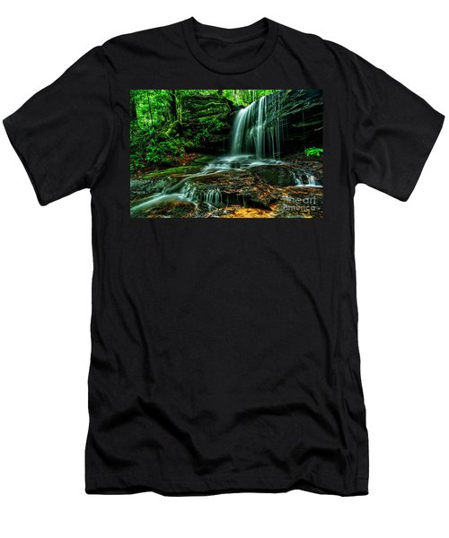 West Virginia Waterfall Men's T-Shirt (Athletic Fit)