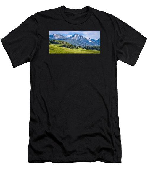 #215 - Spanish Peaks, Southwest Montana Men's T-Shirt (Athletic Fit)