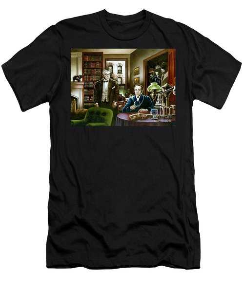 221 B Baker Street Men's T-Shirt (Athletic Fit)