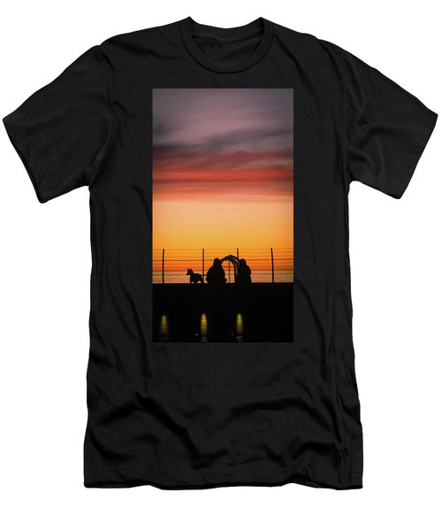 Men's T-Shirt (Athletic Fit) featuring the photograph 22nd St Sunset by Michael Hope