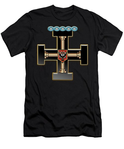 27th Degree Mason - Knight Of The Sun Or Prince Adept Masonic Jewel  Men's T-Shirt (Slim Fit) by Serge Averbukh