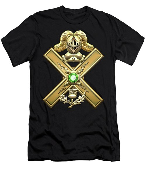29th Degree Mason - Scottish Knight Of Saint Andrew Masonic Jewel  Men's T-Shirt (Slim Fit) by Serge Averbukh