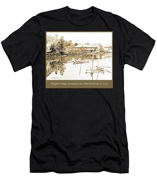 Arrow Head Lake, Philippine Village, 1904 Worlds Fair, Vintage P Men's T-Shirt (Athletic Fit)
