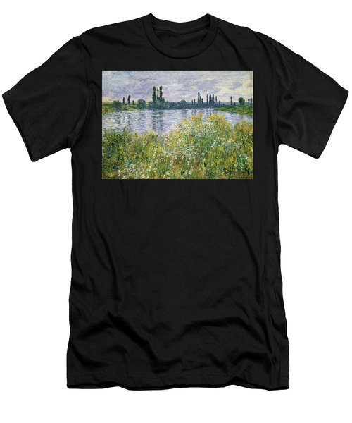 Banks Of The Seine, Vetheuil Men's T-Shirt (Athletic Fit)