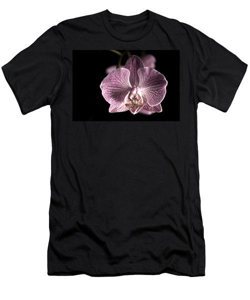 Close Up Shoot Of A Beautiful Orchid Blossom Men's T-Shirt (Athletic Fit)