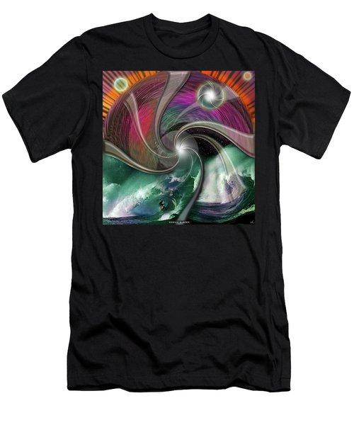 Cosmic Surfer Men's T-Shirt (Athletic Fit)