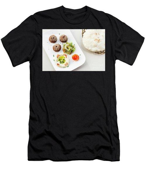 Falafel Hummus Houmus Starter Snack Food Mezze Platter Men's T-Shirt (Athletic Fit)
