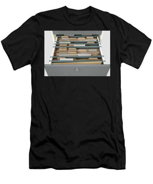 Filing Cabinet Drawer Open Generic Men's T-Shirt (Athletic Fit)