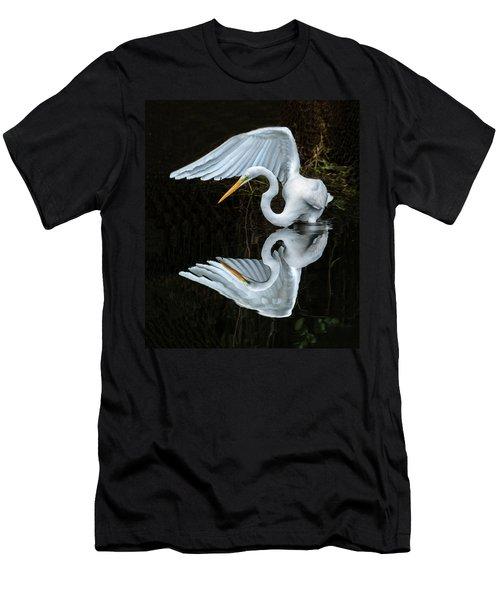 Great Egret Reflection Men's T-Shirt (Athletic Fit)