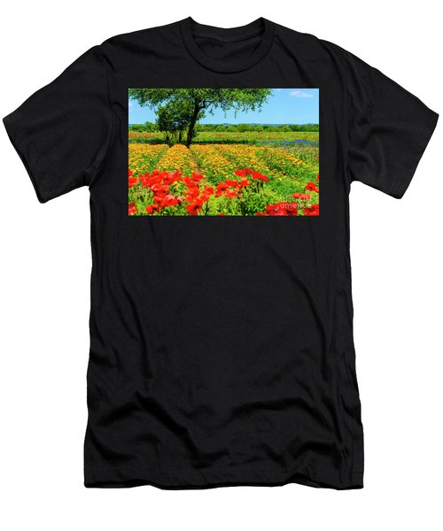 Hill Country In Bloom Men's T-Shirt (Athletic Fit)