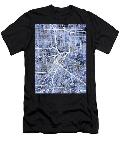 Houston Texas City Street Map Men's T-Shirt (Athletic Fit)