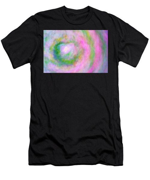 Men's T-Shirt (Athletic Fit) featuring the photograph Impression Series - Floral Galaxies by Ranjay Mitra