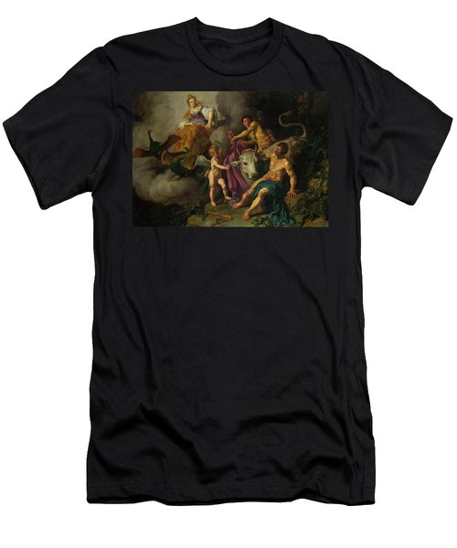 Juno Discovering Jupiter With Io Men's T-Shirt (Athletic Fit)