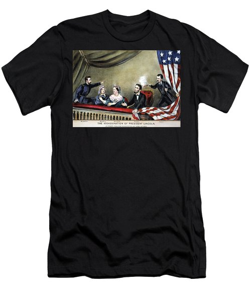 Lincoln Assassination Men's T-Shirt (Athletic Fit)