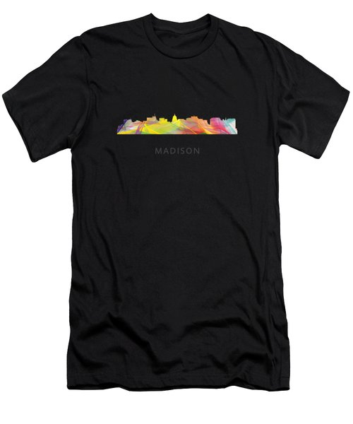 Madison Wisconsin Skyline Men's T-Shirt (Athletic Fit)