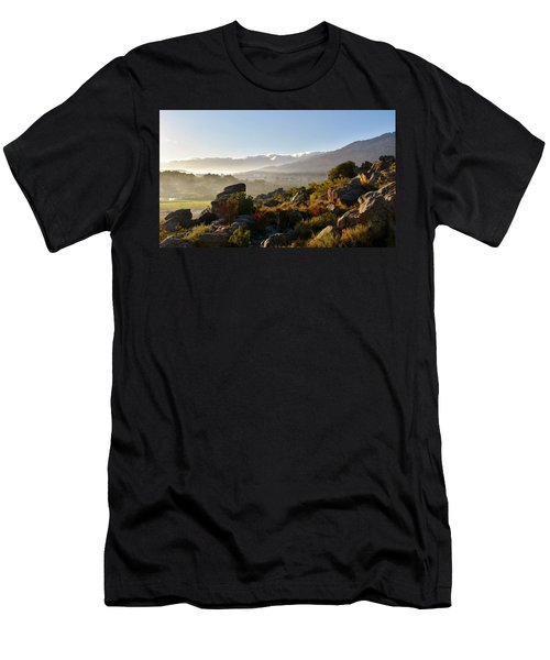 morning fog over Ceres Men's T-Shirt (Athletic Fit)