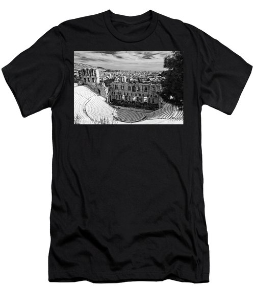 Men's T-Shirt (Athletic Fit) featuring the photograph Odeon Of Herodes Atticus On Acropolis In Athens by Michael Maximillian Hermansen