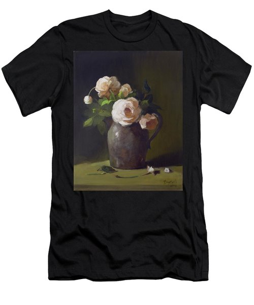 3 Roses In Silver Pitcher Men's T-Shirt (Athletic Fit)