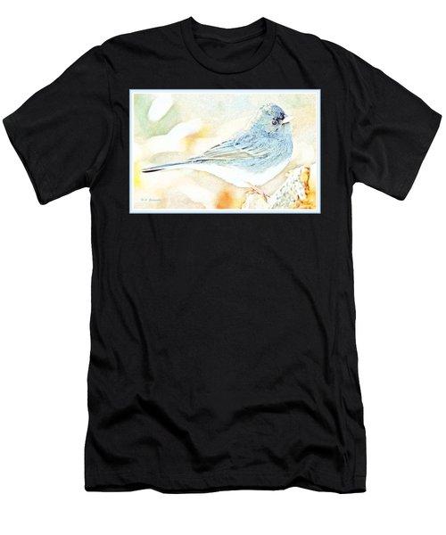 Slate-colored Junco, Snowbird, Male, Animal Portrait Men's T-Shirt (Athletic Fit)