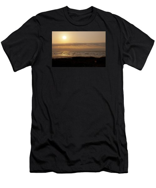 Sunrise At Beach Men's T-Shirt (Athletic Fit)