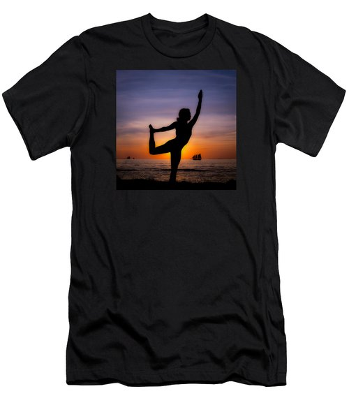 Sunset Yoga Men's T-Shirt (Athletic Fit)