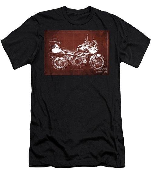 Suzuki V-strom 1000 Se 2012 Original Blueprint Motorcycle Wall Art For Men Office Men's T-Shirt (Athletic Fit)