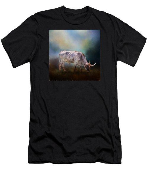 Texas Longhorn Steer Men's T-Shirt (Athletic Fit)
