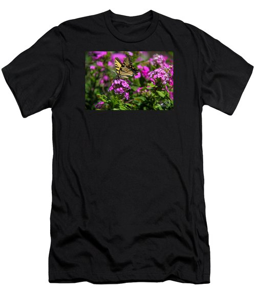 Men's T-Shirt (Slim Fit) featuring the photograph Tiger Swallowtail by Yumi Johnson