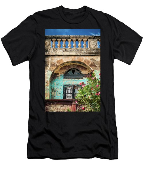Traditional Mediterranean Maltese House Exterior Detail In Gozo  Men's T-Shirt (Athletic Fit)