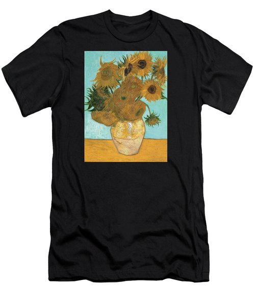 Men's T-Shirt (Athletic Fit) featuring the painting Vase With Twelve Sunflowers by Vincent Van Gogh