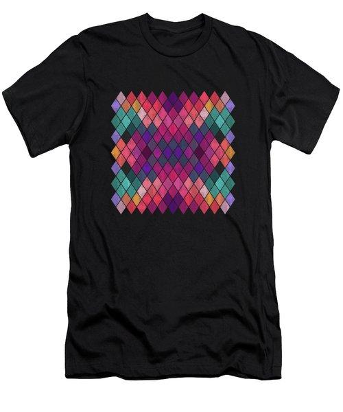 Watercolor Geometric Background Men's T-Shirt (Athletic Fit)