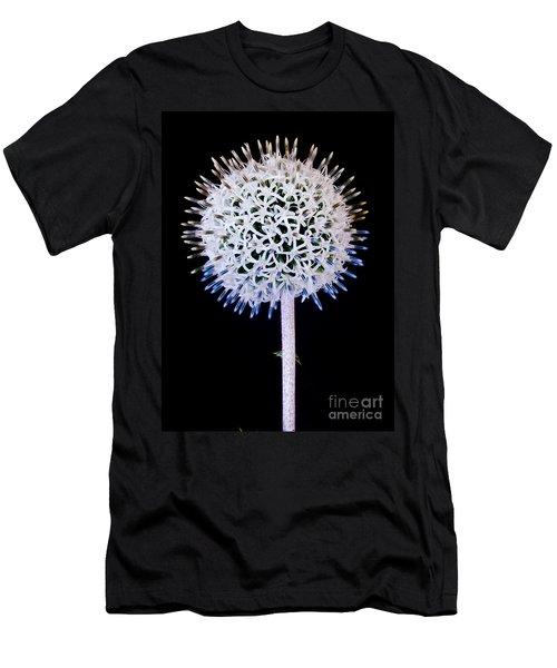 White Alium Onion Flower Men's T-Shirt (Athletic Fit)
