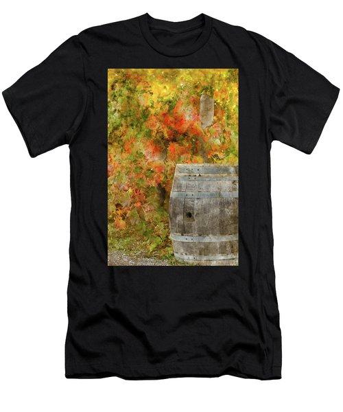 Wine Barrel In Autumn Men's T-Shirt (Athletic Fit)