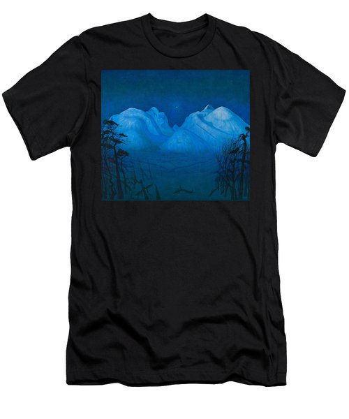 Winter Night In The Mountains Men's T-Shirt (Athletic Fit)