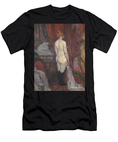 Woman Before A Mirror Men's T-Shirt (Athletic Fit)