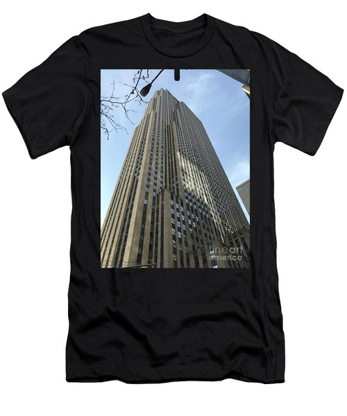 30 Rockefeller Plaza Nyc Men's T-Shirt (Athletic Fit)