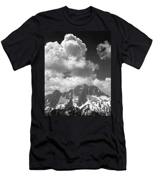 304638 Clouds Over Mt. Stuart Bw Men's T-Shirt (Athletic Fit)