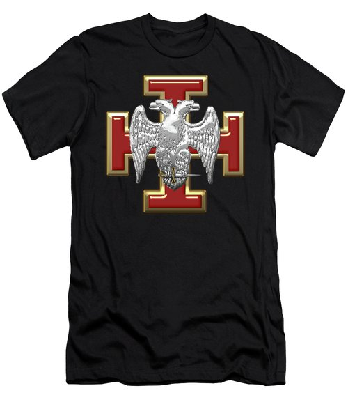 30th Degree Mason - Knight Kadosh Masonic Jewel  Men's T-Shirt (Slim Fit) by Serge Averbukh