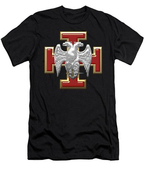 30th Degree Mason - Knight Kadosh Masonic Jewel  Men's T-Shirt (Athletic Fit)