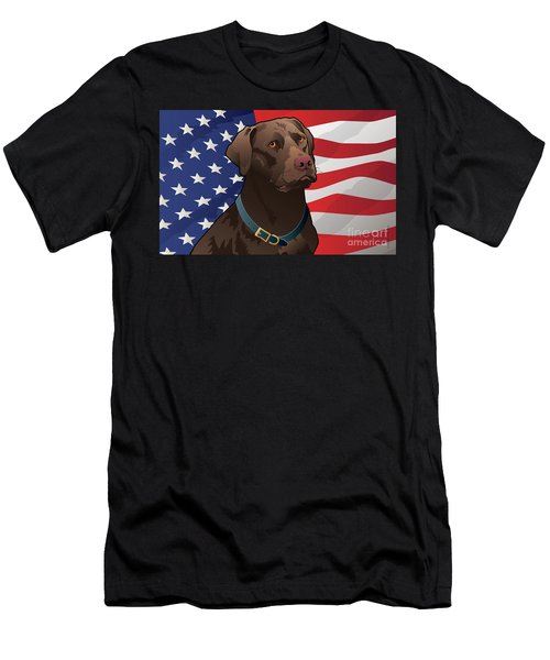 30x18-us-chocalab-mat Men's T-Shirt (Athletic Fit)