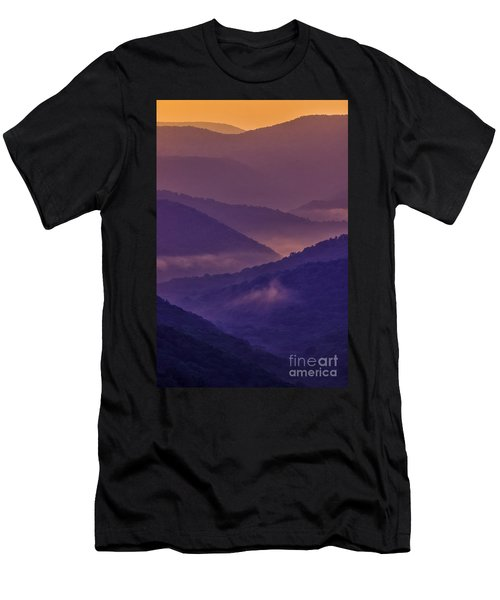 Allegheny Mountain Sunrise Two Men's T-Shirt (Athletic Fit)